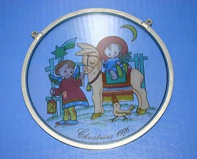 Nice Vintage 1976 Schmid Hummel Christmas Stained Glass