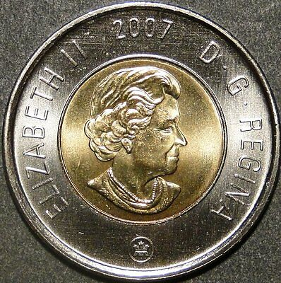 BU UNC Canada 2007 Toonie $2 Dollar Coin from mint roll