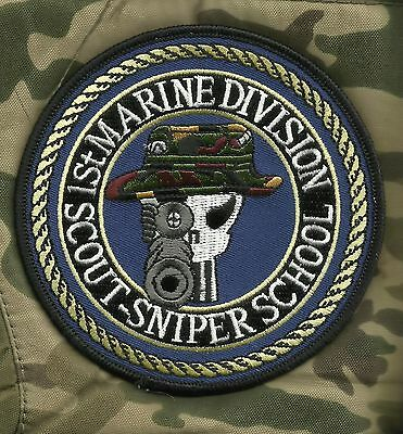 USMC 1st MARINE DIVISION SCOUT-SNIPER SCHOOL MILITARY PATCH PUNISHER