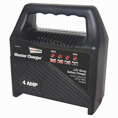 Portable mains battery charger compact boat car van 12 volt 4 AMP 12v EASY clips