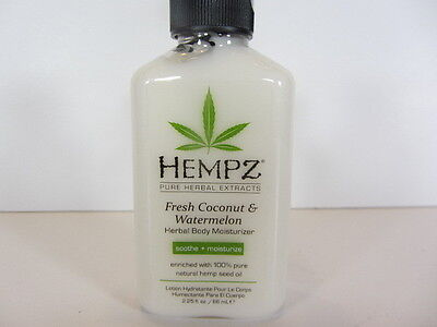 2.25 Oz. Supre Hempz Fresh Coconut & Watermelon  Moisturizer Lotion