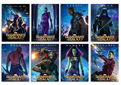 Guardians Of The Galaxy Movie Postcard Set 8pcs Marvel