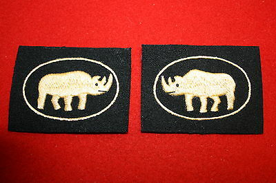 BRITISH WW2 WWII 1ST ARMOURED DIVISION CLOTH FORMATION SIGNS
