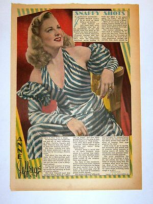 1947 - ANNE JEFFREYS - Snappy Shots - Dorothy Manners (framable)