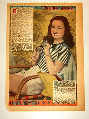 1948 - ANN BLYTH - Snappy Shots - Dorothy Manners (framable)
