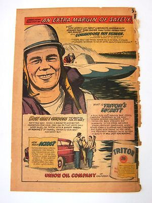 6-12-1949 - ROY SKAGGS for UNION OIL COMPANY - Newspaper ad - TRITON 76
