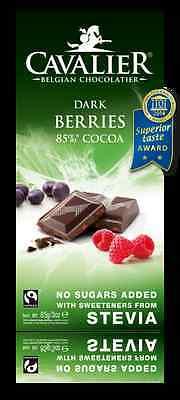 Cavalier Sugar Free Belgian Chocolate With Stevia Low Carb Diet  Diabetic