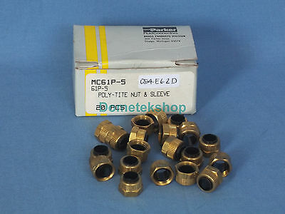 Parker MC61P-5 Poly-Tite Nut & Sleeve (20 Pieces, New)