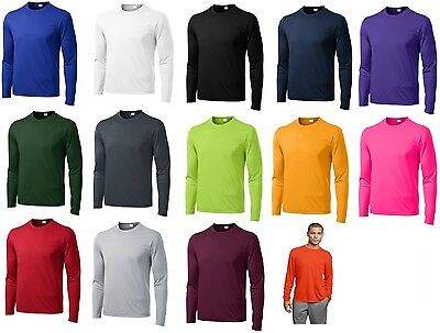 Mens Moisture Wicking Dry Long Sleeve dri-fit Running T-shirts S-4XL NEW ST350LS