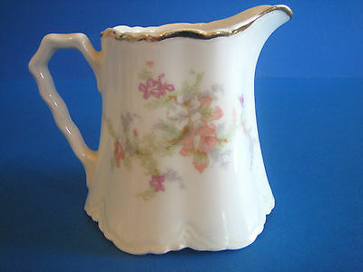Creamer by WS George Radisson Pink Lavender Flowers Gold Antique