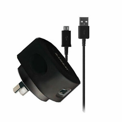 Black Wall Charger Charge/Micro USB Charging Cable for Samsung Galaxy S4 S5/HTC