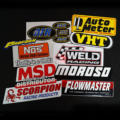 Performance Sticker Decal 10 Pack Peel N Stick Stickers Msd Moroso Nos #st6