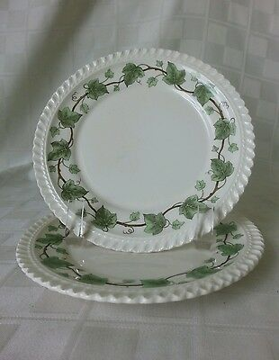"""HARKER Pottery 6-1/4"""" Bread Plates Royal Gadroon Ivy U.S.A. (2 Available)"""