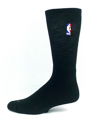 NBA Basketball Logoman Black Crew Long Socks Men's New