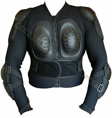 Ladies S-Xl Black Spine Guard Ce Body Armours Womens Motorbike Protection Jacket