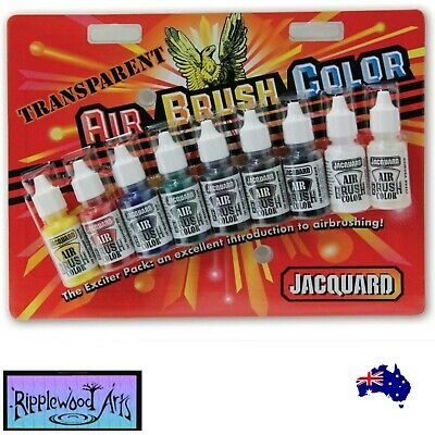Jacquard AIR BRUSH COLORS - TRANSPARENT -  9  Color Set