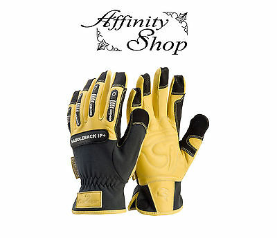 Contego Saddleback Impact Protection Work Glove Leather Chainsaw Gloves IP+ NEW