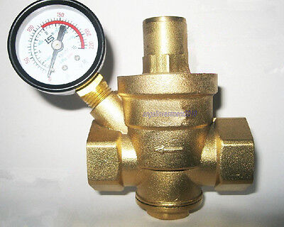 1pc New 1-1/4'' BRASS Water Pressure Reducing VALVE DN32 Bspp with Gauge