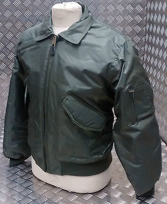 MA2 CWU US Military Style Bomber Jacket MOD/Scooter/Bikers Green - All Sizes NEW