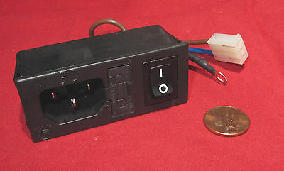New Delta Electronics Power Entry Module 250V AC 6A with ON-OFF Switch Fuse 06A2