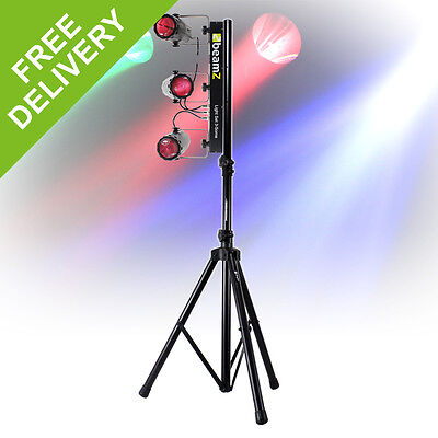 Beamz Party Sound To Light Disco DJ LED Lighting Rail + Stand