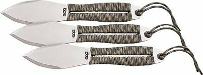 SOG FX41N-CP Fling Throwing Knife 2.8-Inch Blade with Black Nylon Sheath 3-Pack