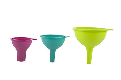 Core Kitchen Essential Silicone 3pc Nesting Funnel Set