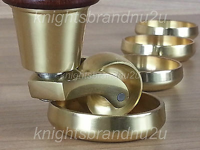 Castor Coasters Solid Brass Furniture Glides Floor Protector Sofa Chairs Settee