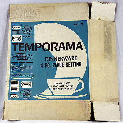 Lot of 11 Collectible Temporama Dinnerware 4 PC Place Setting Cardboard Boxes