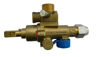 Pel 22S Gas Safety Catering Valve Upright Angled Vertical Input/outlet