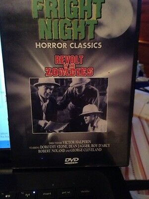 Revolt of the Zombies (DVD, 1998, Fright Night Horror Classics) VG TO EXCELLENT