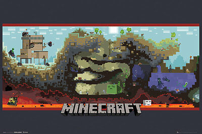 Minecraft - Underground POSTER 60x90cm NEW * mine craft game artwork