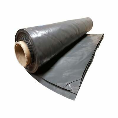 Black Polythene Heavy Duty Plastic Sheeting 4Mt wide DPM rolls 300MU 1200 Gauge