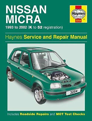 Haynes Service & Repair Manual Nissan Micra 1993 - 2002 3254
