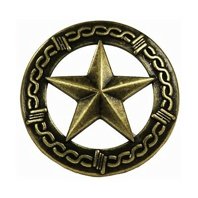 """Western Decor Set of 25 1"""" Brass Star/Barbed Wire Upholstery Tacks/Nails 1/2"""""""