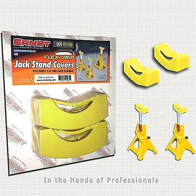 ERNST Mfg 965 YELLOW JACK STAND PAD COVERS (1 Pair)   NEW