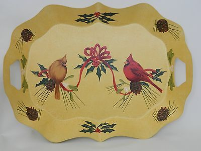 Lenox winter greetings catherine mcclung christmas metal tray lenox winter greetings catherine mcclung christmas metal tray cardinal birds m4hsunfo