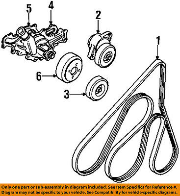 Ford Oem Serpentine Drive Belt Idler Pulley 6l2z6c348a