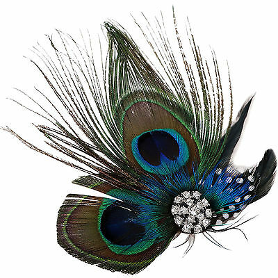 Bridal Hair Womens Peacock Feather Headband unique Hair Accessories