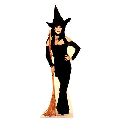 ELVIRA Witch Broom Mistress of the Dark CARDBOARD CUTOUT Standup Standee Poster