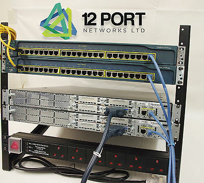 CISCO Rack Lab CCNA CCNP CCIE  Starter (Router Switch WIC-1T 2811 CISCO  2950 )