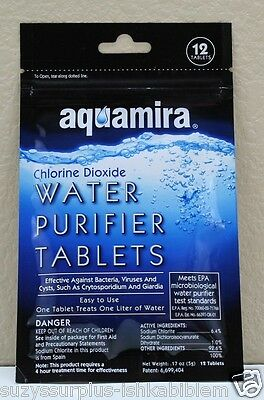 Water Purification Tablets AquaMira Water Purifier Tablets 12 tabs perpack E9510