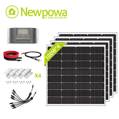Newpowa 400W Watts 12V Monocrystalline Solar Panel Charging Kit system off grid