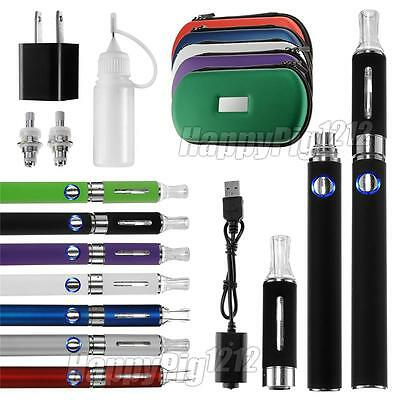 2 X Vape Pen Vaporizer Kit 1100mah Battery + 2 X MT3 Clearomizer +Charger+2 coil