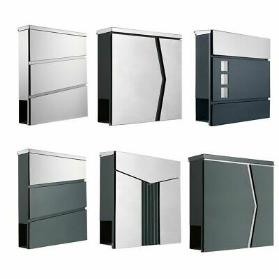briefkasten wei silber anthrazit postkasten wandbriefkasten letterbox eur 17 49 picclick de. Black Bedroom Furniture Sets. Home Design Ideas