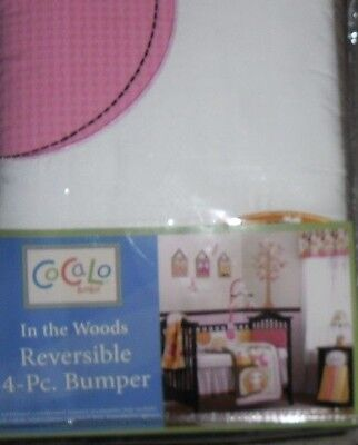 Cocalo Baby In The Woods Nursery Crib Bumper Pad New!
