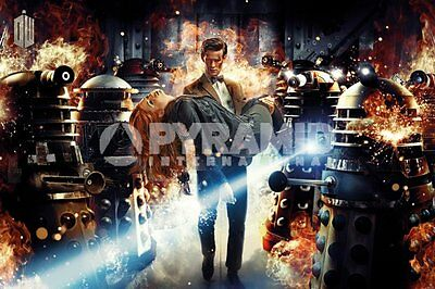 Doctor Who (Doctor & Amy) POSTER 60x90cm NEW * 11th dr carrying pond daleks