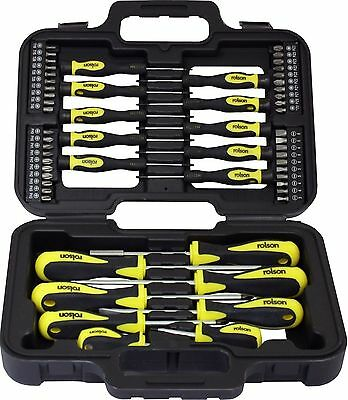 58 Pc Screwdriver & Bit Set Precision Slotted Torx Phillips Tool Kit Mechanics