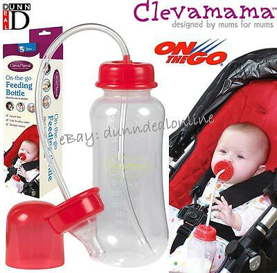 Special Needs Disability Hands Free Baby Clevamama On The Go Feeding Bottle NEW