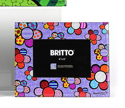 ROMERO BRITTO NURSERY SET OF BEAR WALL CLOCK /& PHOTO FRAME  ** NEW ** GIFT BOXES